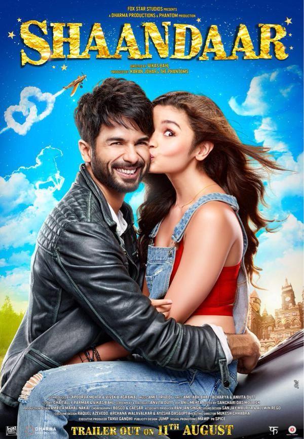 Alia Bhatt And Shahid Kapoors Shaandar Movie Poster -3961