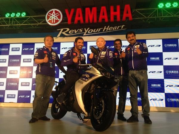 John Abraham,Yamaha R3 in India,Yamaha R3,R3 launched in India,R3,actor John Abraham,John Abraham latest pics,John Abraham latest images,John Abraham Launches Yamaha R3 pics,John Abraham Launches Yamaha R3 images,John Abraham Launches Yamaha R3 photos,Joh