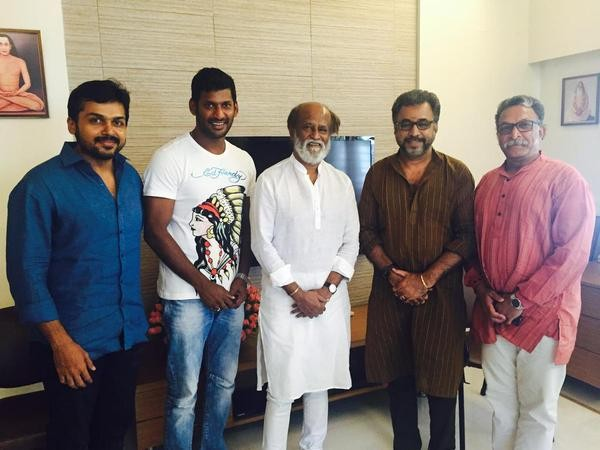 Vishal,Karthi,Superstar Rajinikanth,Rajinikanth,Vishal,Karthi team meet Superstar Rajinikanth,Vishal,Karthi team meet Rajinikanth,Rajinikanth latest pics,Rajinikanth latest images,Rajinikanth latest photos,Rajinikanth latest stills,Rajinikanth latest pi