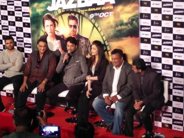 Jazbaa Trailer,Jazbaa Trailer Launch,Jazbaa,Aishwarya Rai Bachchan,Aishwarya Rai,Irrfan Khan,Jazbaa Trailer Launch pics,Jazbaa Trailer Launch images,Jazbaa Trailer Launch photos,Jazbaa Trailer Launch pictures,Jazbaa Trailer stills,bollywood movie Jazbaa