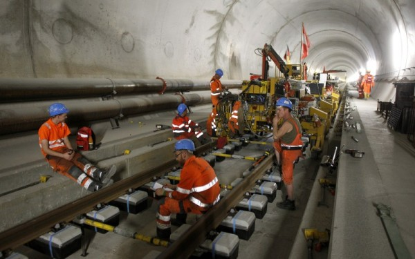 World's longest tunnel under Swiss Alps - Photos,Images ...