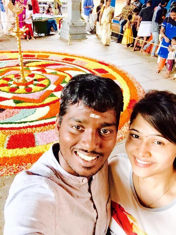 Onam,Onam celebration,Vijay 59,Atlee,Priya,Atlee and Priya,Atlee and Priya celebrate onam,onam 2015