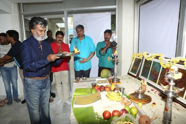 Kabali,Superstar Rajinikanth's Kabali Movie Launch,Kabali Movie Launch,Superstar Rajinikanth,Rajinikanth,Kabali Movie pooja,kabali