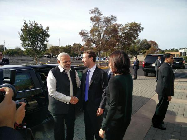 Narendra Modi,Prime Minister Narendra Modi at Facebook headquarters,Narendra Modi at Facebook headquarters,Facebook headquarters,Mark Zuckerberg