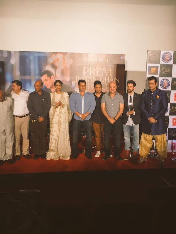 Prem Ratan Dhan Payo,Salman Khan,Sonam Kapoor,Prem Ratan Dhan Payo Trailer Launch,Prem Ratan Dhan Payo Trailer,Salman Khan and Sonam Kapoor,Prem Ratan Dhan Payo Trailer Launch pics,Prem Ratan Dhan Payo Trailer Launch images,Prem Ratan Dhan Payo Trailer La