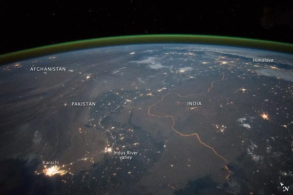 NASA releases images of India-Pakistan border,India-Pakistan border,NASA,India border,Pakistan border,India and Pakistan border,India and Pakistan border from space