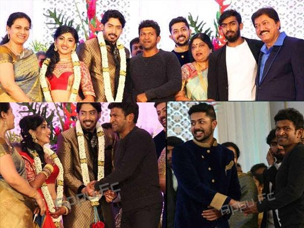 Prajwal Devaraj and Ragini Chandran Wedding Reception,Prajwal Devaraj Wedding Reception,Ragini Chandran Wedding Reception,Prajwal Devaraj marriage Reception,Ragini Chandran marriage Reception,Puneeth Rajkumar,Jayanthi,Sudharani