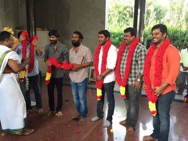 Dhanush,Kodi Movie Launch,Kodi Movie pooja,Dhanush's Kodi Movie Launch,Dhanush's Kodi Movie pooja,Dhanush new movie launch,Trisha,Shamile