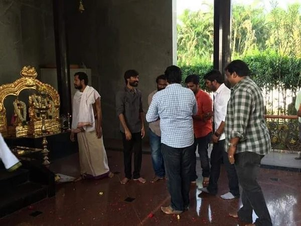 Dhanush,Kodi Movie Launch,Kodi Movie pooja,Dhanush's Kodi Movie Launch,Dhanush's Kodi Movie pooja,Dhanush new movie launch,Trisha,Shamile