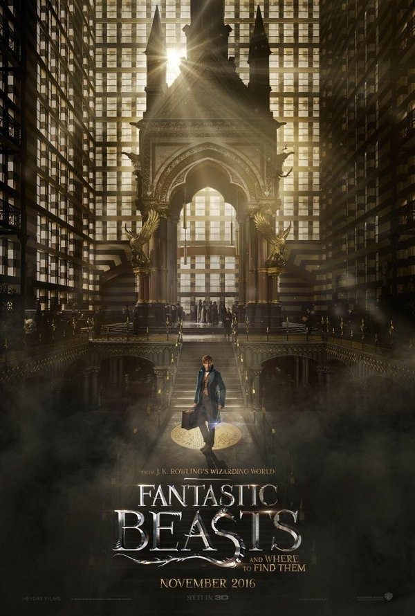 Fantastic Beasts and Where to Find Them,Fantastic Beasts and Where to Find Them first look poster,Fantastic Beasts and Where to Find Them first look,Fantastic Beasts,Eddie Redmayne,Katherine Waterston,Alison Sudol,Dan Fogler,Samantha Morton,Ezra Miller,Co