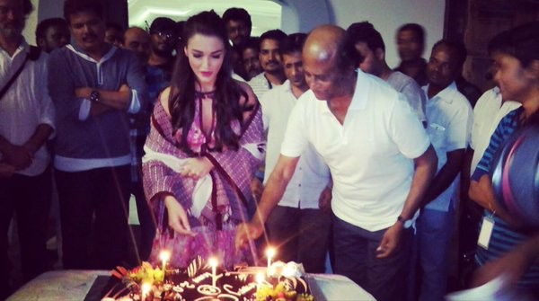 Amy Jackson,Amy Jackson Christmas celebration,Rajinikanth,Enthiran 2,super star Rajinikanth,TEAM 2.0,Rajinikanth Christmas celebration