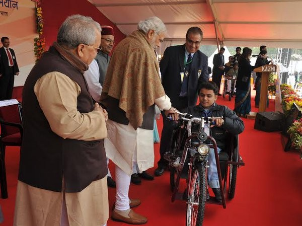 Prime Minister Narendra Modi,Narendra Modi,modi,differently-abled people,Thawar Chand Gehlot,special aid equipment