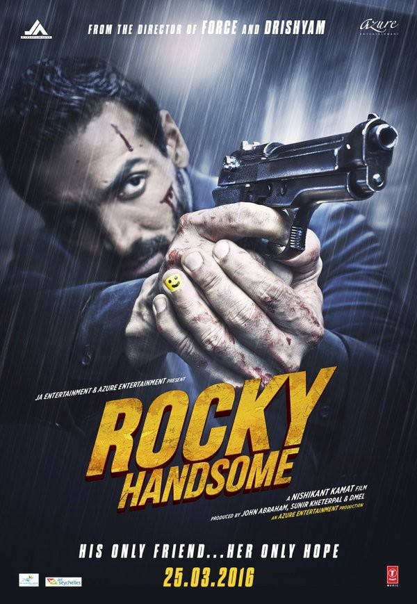 John Abraham,Rocky Handsome,Rocky Handsome first look,Rocky Handsome first look poster,Rocky Handsome poster,Nishikant Kamat