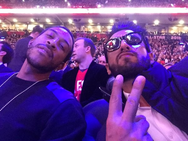 Ranveer Singh,Ranveer Singh meets Ludacris,Ranveer Singh celebrates Valentine's Day,Ranveer Singh meets Ludacris at NBA All-Star game,Ranveer meets Ludacris,NBA All-Star game,Ranveer Singh at NBA All-Star game,actor Ranveer Singh,Ranveer Singh new pi