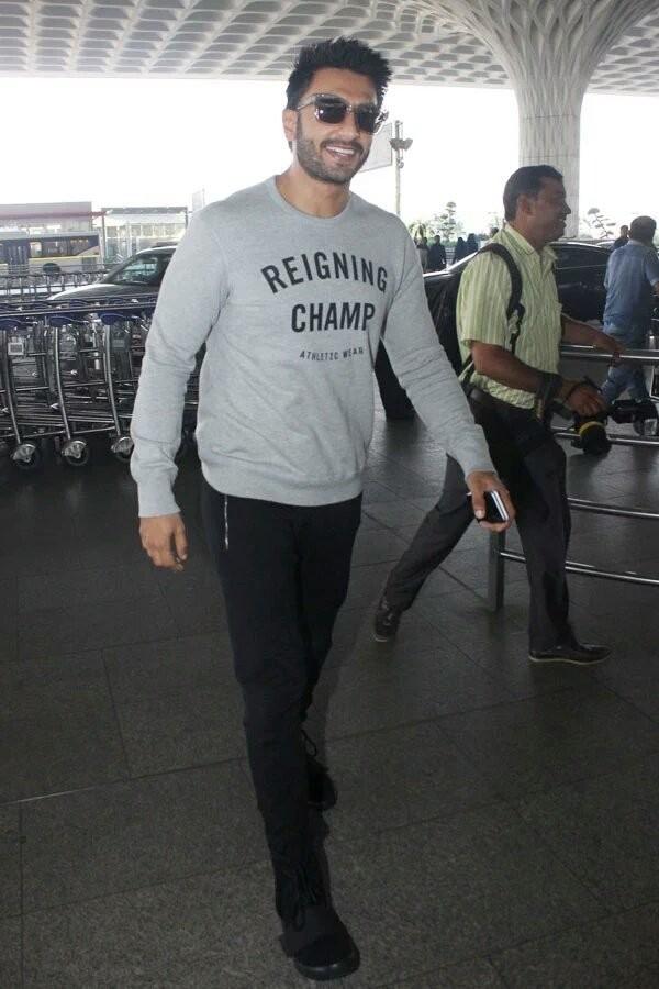 Ranveer Singh,Ranveer Singh off to Paris,Ranveer Singh Befikre movie,Befikre,bollywood movie Befikre,Ranveer Singh Befikre,Befikre movie pics,Befikre movie stills,Befikre movie pictures,Befikre movie photos,Ranveer Singh at Mumbai International airport,Ra