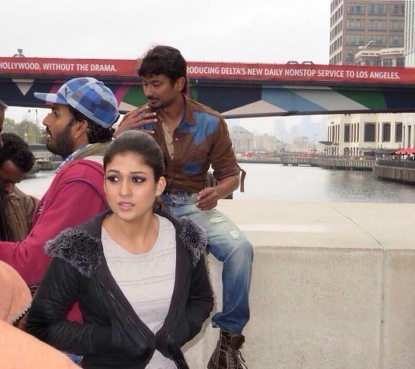 Nayantara during the shooting of 'Nannbenda' in London
