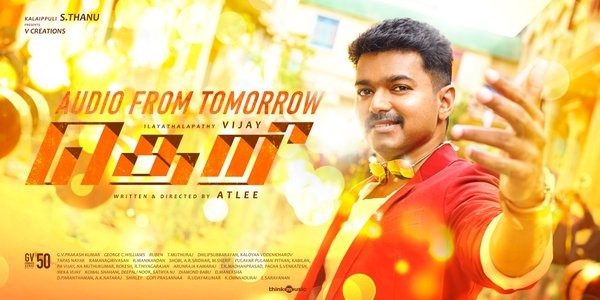 Theri,Theri first look,Theri first look poster,Theri poster,vijay,vijay 59,ilayathalapathy vijay,atlee,vijay new movie