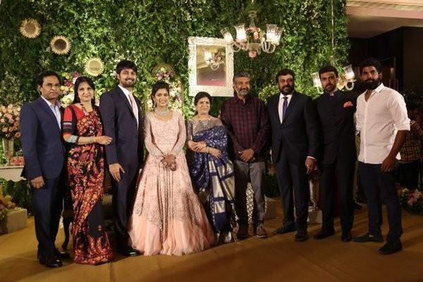 Celebs like Nagarjuna with his wife Amala, SS Rajamouli, Arvind Swamy, N. Chandrababu Naidu, Brahmanandam, Rakul Preet Singh, Vamsi Paidipally, Suresh Kondeti, Srinu Vaitla, Murali Mohan with his daughter Madhu Bindhu, Shilpa Reddy, Jhansi Sureddi, Prasad V Potluri, Jayasudha, Nitin Kapoor, K Viswanath, B Gopal, Daggubati Purandeswari, Dasari Narayana Rao, Paruchuri Gopala Krishna, Vijaya Lakshmi, Gopichand, Reshma, Niharika Konidela, Nagendra Babu, SV Krishna Reddy, Padmaja Konidela, K Atchi Reddy, Sneha Reddy.