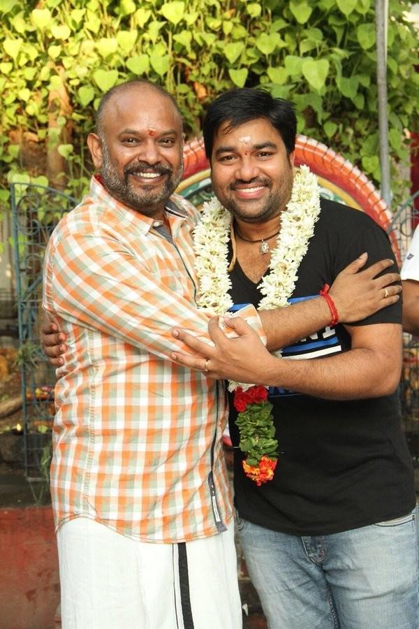 Chennai 600028 movie launch,Chennai 600028 movie pooja,Chennai 600028,Venkat Prabhu,Gangai Amaran,Premgi Amaren,Vaibhav,Chennai 600028 part 2,Chennai 600028 sequel