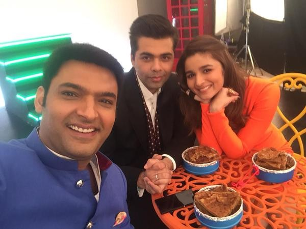 Kapil Sharma with Karan Johar and Alia Bhatt