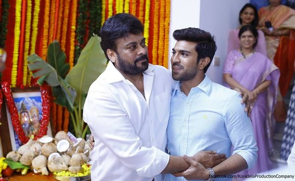 Chiru 150,Chiru 150 launch,Chiranjeevi's Kaththilantodu movie launch,Chiranjeevi,Kaththilantodu movie launch,Kaththilantodu,Kaththilantodu movie launch pics,Kaththilantodu movie launch images,Kaththilantodu movie launch stills,Pawan kalyan,Kaththilan