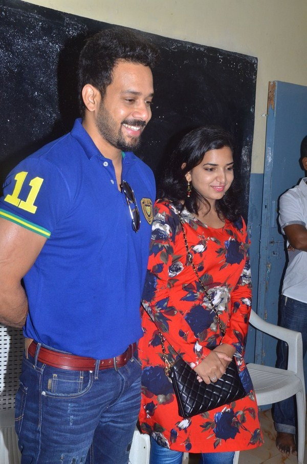 South Indian Actor Bharath celebrates his birthday with his wife Jeshly Joshua at an Orphanage in Chennai.