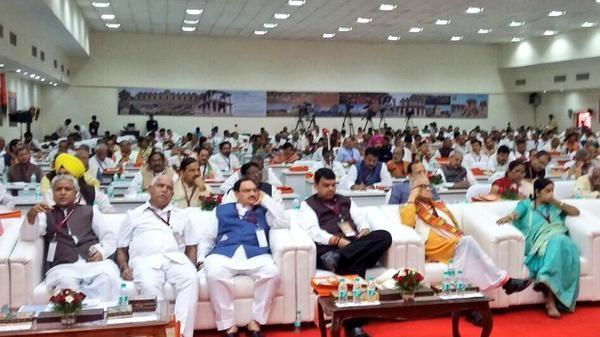 BJP's National Executive Meets In Bangalore,Narendra Modi,Narendra Modi in bangalore,Amit Shah,LK Advani,Prime Minister Narendra Modi,bjp