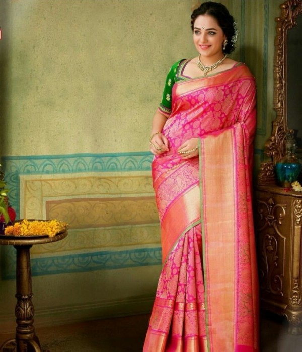 Beautiful Indian Bollywood Actress All Time: Nithya Menen's Pothys Saree Ad