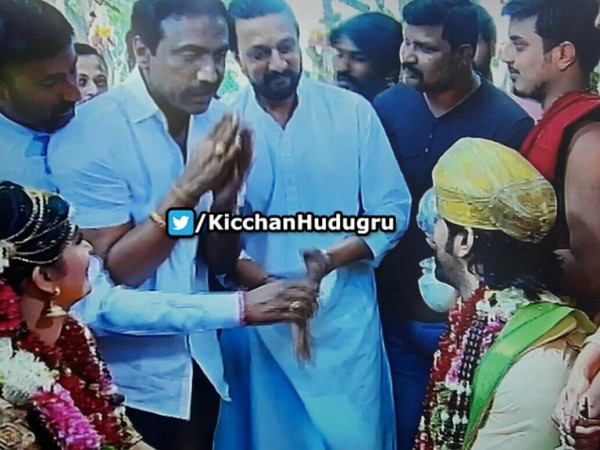 Sudeep at Yash and Radhika Pandit's wedding - Photos,Images