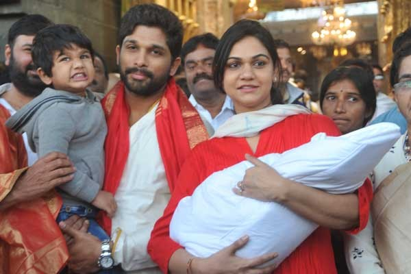 Allu Arjun,Sneha Reddy,Ayaan,Arha,Allu Arjun visits Tirupati,Allu Arjun in Tirupati,actor Allu Arjun,Allu Arjun latest pics,Allu Arjun latest images,Allu Arjun latest photos,Allu Arjun latest stills,Allu Arjun latest pictures