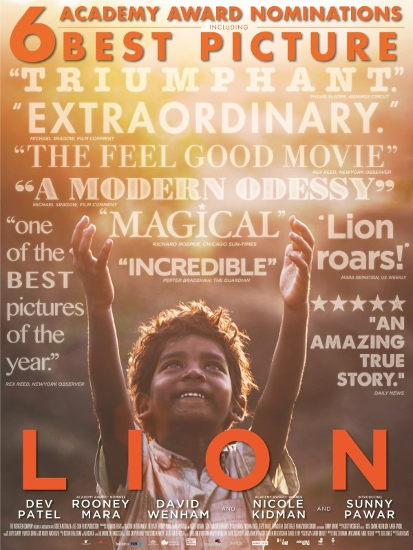 LION,LION movie poster,LION poster,New India Poster of LION,Dev Patel,Nicole Kidman,Sunny Pawar,actor Sunny Pawar,sunny pawar indian child actor