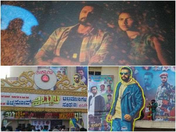 Kiccha Sudeep,Kiccha Sudeep fans,Sudeep fans,Hebbuli movie release,Hebbuli,Amala Paul,Hebbuli FDFS