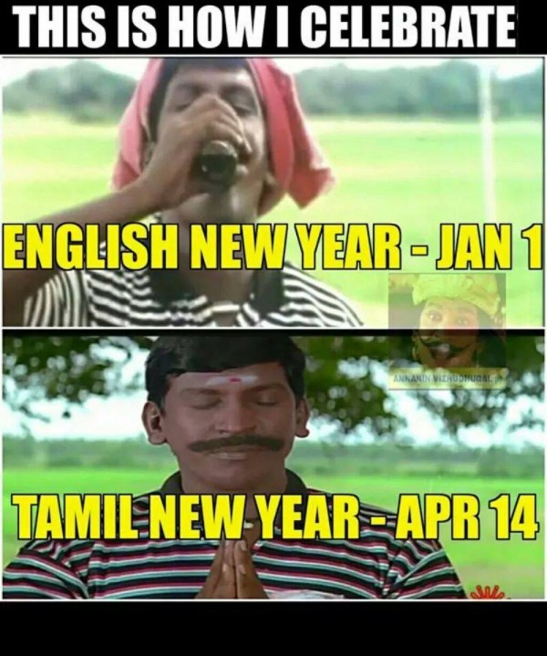 Funny Posters of Happy Tamil New Year - Puthandu - Photos