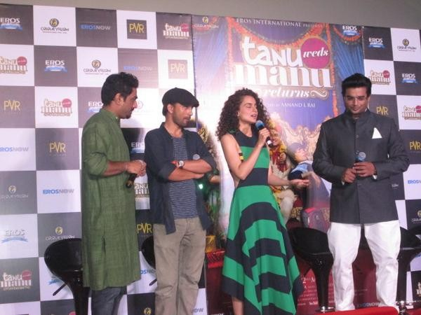Tanu Weds Manu Returns Trailer Launch,Tanu Weds Manu Returns,bollywood movie Tanu Weds Manu Returns,Kangna Ranaut & R Madhavan,Kangna Ranaut,Madhavan