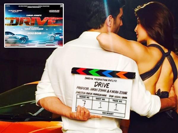 Sushant Singh Rajput,Jacqueline Fernandez,Sushant Singh Rajput and Jacqueline Fernandez,Drive first look,Drive,Drive first look poster,Drive  poster