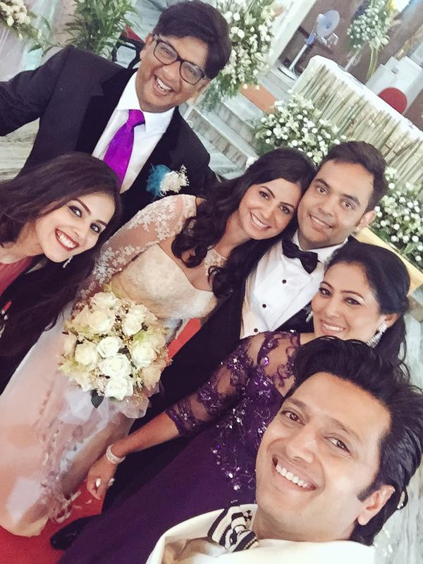 Genelia D'Souza brother wedding,Genelia D'Souza,Genelia D'Souza brother name,Nigel D'Souza,Nigel D'Souza wedding,Navneet Saluja