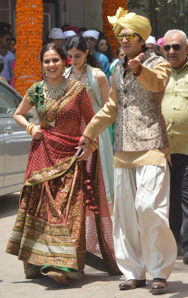 Genelia Marriage Reception Photos Genelia D'Souza's Brot...