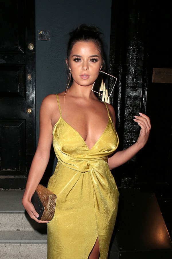 demi rose flaunts her eyepopping curves in slinky gown