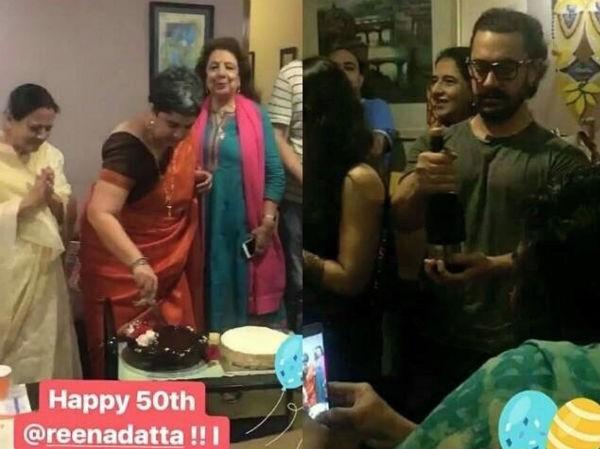 Aamir Khan,actor Aamir Khan,Reena Dutta,Aamir Khan wife Reena Dutta,Aamir Khan celebrates Reena Dutta birthday,Reena Dutta's 50th birthday