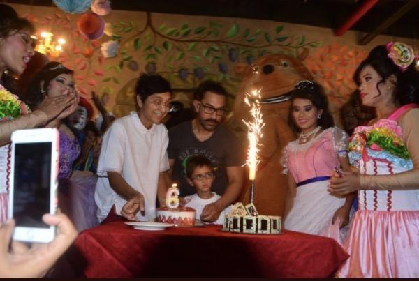 Aamir Khan and Kiran Rao,Aamir Khan,Kiran Rao,Azad Rao Khan,Azad Rao Khan 6th birthday,Azad Rao Khan birthday,Azad Rao Khan birthday celebration,Azad Rao Khan birthday celebration pics,Azad Rao Khan birthday celebration images,Azad Rao Khan birthday celeb