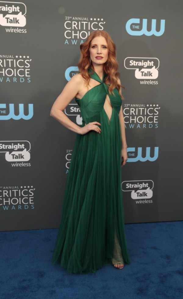 Allison williams gal gadot jessica biel jessica chastain and margot robbie at critics choice - Red carpet photographers ...