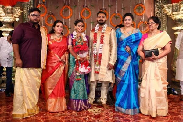 Suriya Jyothika Prabhu Deva Vignesh Shivan And Vivek At Keerthana And Akshay Wedding Photos
