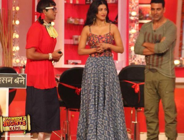 Akshay Kumar,comedy nights with kapil,shruti haasan,Kapil sharma,Gabbar Is Back,photo