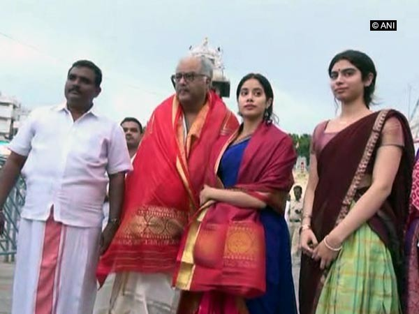 Dhadak release,Dhadak movie release,Jahnvi Kapoor,Jahnvi Kapoor visit Tirupati,Boney Kapoor,Khushi Kapoor,Dhadak actress
