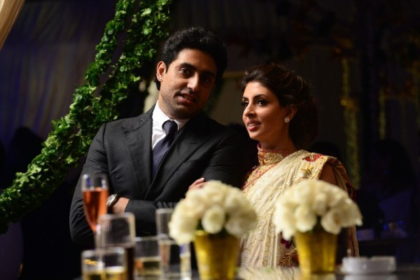 Abhishek Bachchan with sister Shewta Nanda attend the marriage ceremony