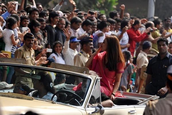 Priety Zinta at Mumbai's Republic Day Parade
