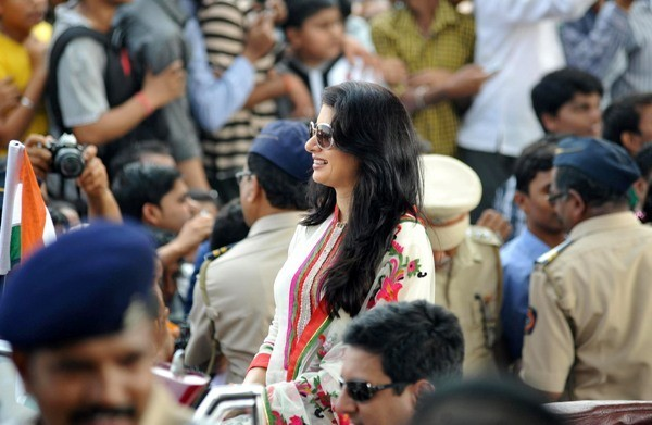 Bhagyashree at Mumbai's Republic Day parade