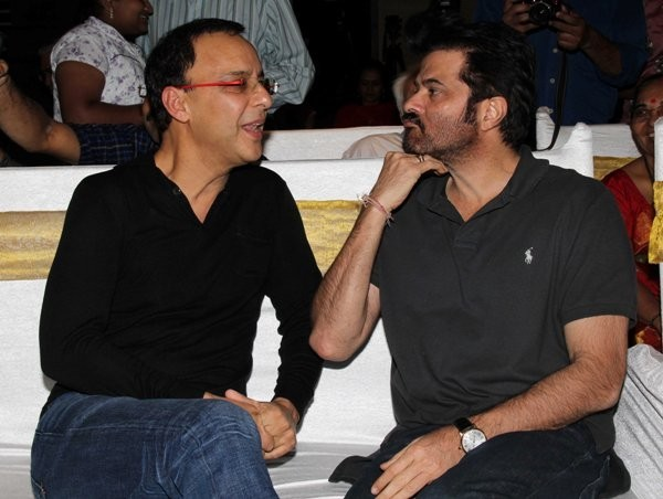 Vidhu Vinod Chopra and Anil Kapoor at the launch of the book, 'Sagar Movietone'