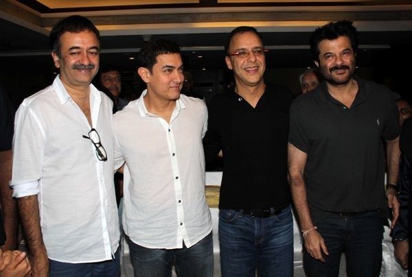 Rajkumar Hirani, Vidhu Vinod Chopra and Anil Kapoor at the launch of the book, 'Sagar Movietone'