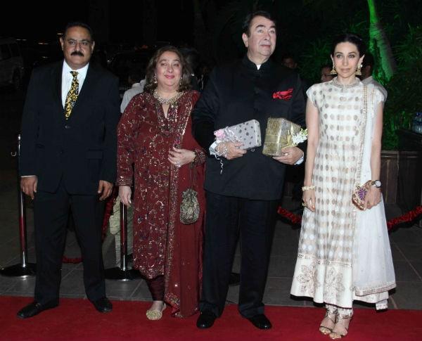 Karishma Kapoor's Family at Arpita Khan's Wedding Reception
